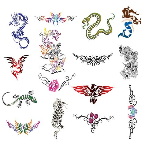 design a temporary tattoo temporary airbrush design stencil patterns ebay