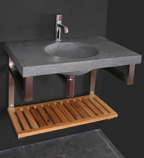 badmeubel natuursteen badmeubel rvs met hardstenen wastafel 1008 70 70 cm