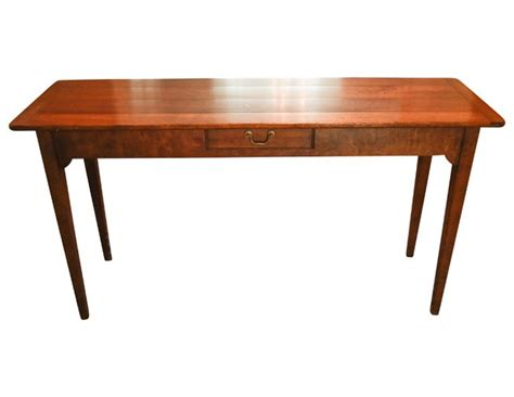 Wright Table Company wright table company vintage wood console with brass pull