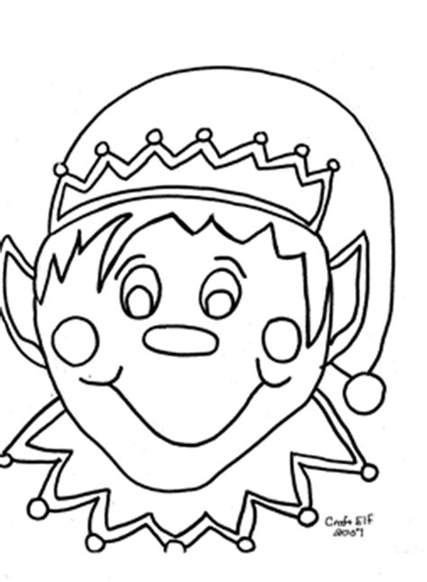 cute coloring pages of elves christmas elf coloring pages