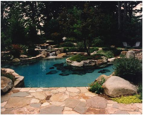 atlanta chattanooga swimming pool spa news trends boulders around pool amazing water features walton sons