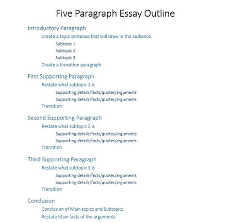 Easy Five Paragraph Essay Outline by 1000 Words Essay Exle