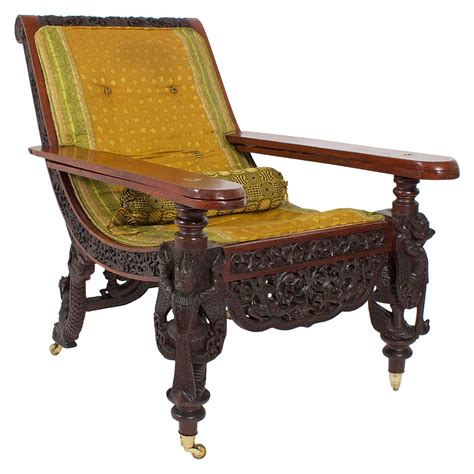 sofas on sale in india 19th century anglo indian carved plantation or planters chair for sale at 1stdibs