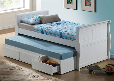 white trundle bed with storage acme nebo full captain bed with storage trundle in white
