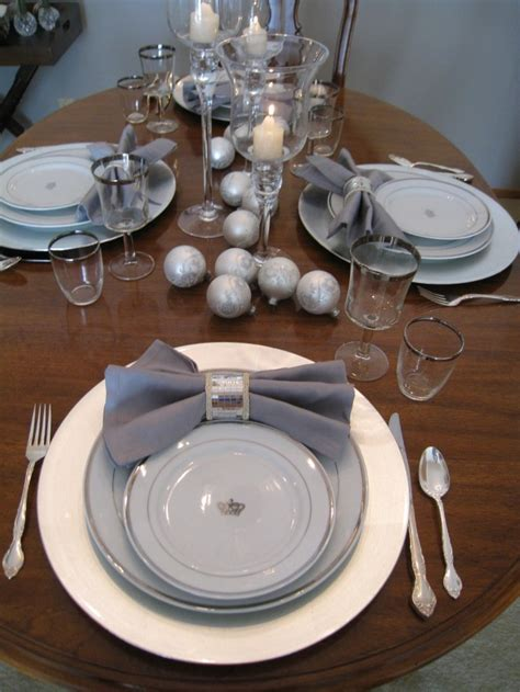 black blue and silver table settings 17 best images about silver black and white party