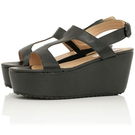 platform sandals buy killa flatform platform sandal shoes black leather