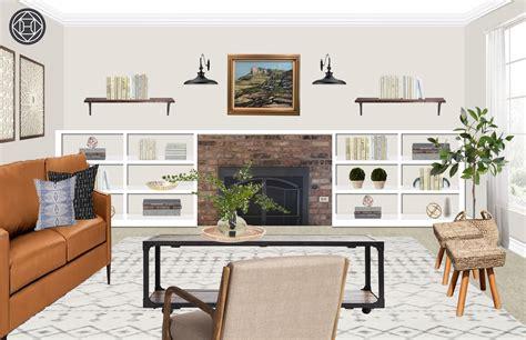 modern farmhouse midcentury modern living room design
