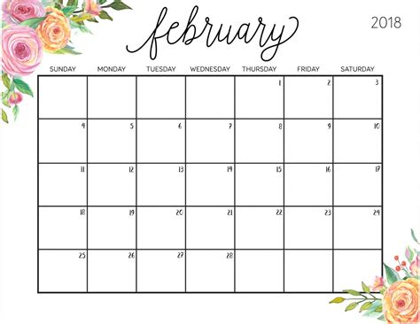 printable planner for 2018 free printable 2018 calendar with weekly planner