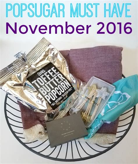Yums November Must Haves by Popsugar Must November 2016 Unboxing