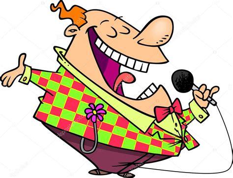 actor comedy cartoon comediante de dibujos animados vector de stock
