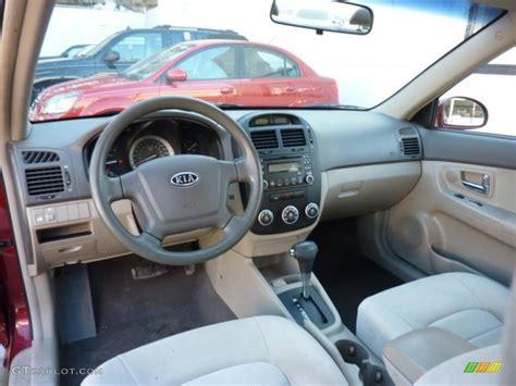 2007 Kia Interior Beige Interior 2007 Kia Spectra Ex Sedan Photo 45327147