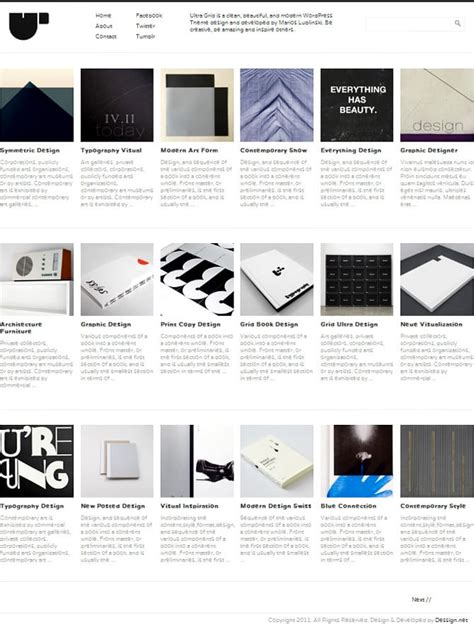 grid layout for portfolio ultra grid theme 171 wordpress themes for creatives