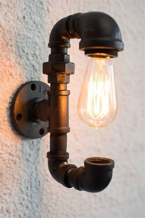 diy pipe light fixture 20 interesting industrial pipe l design ideas