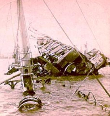 What Year Did The Uss Maine Sink by U S Expansionism 1898 1919 Timeline Timetoast Timelines