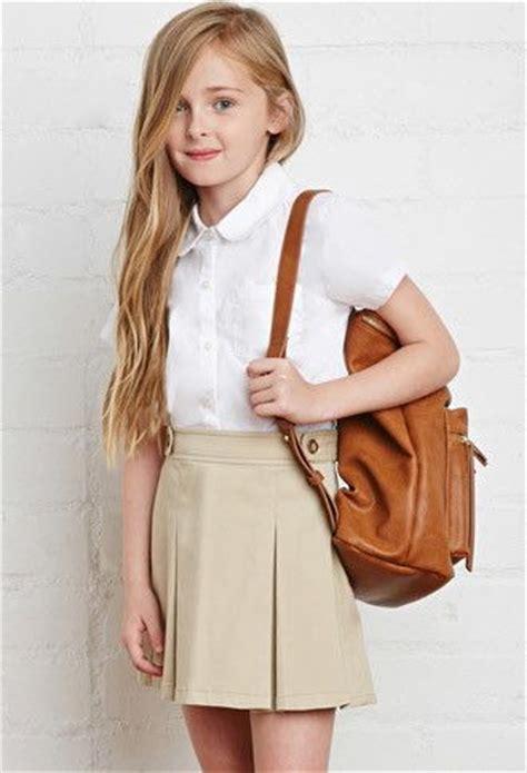 18 year old school girl teen in uniform giselle leon school uniform pleated skirt kids forever 21 girls