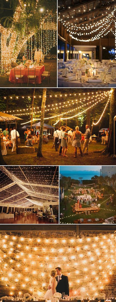 Five Cool Ways To Light Your Wedding Receptions Sang Maestro String Lights Wedding Reception