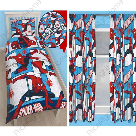 spiderman curtains uk spiderman rotary bedroom range single duvet cover