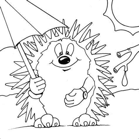 hedgehog printable coloring page