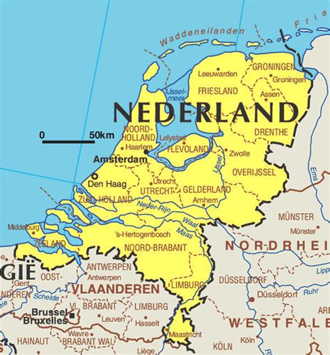 Or Nederland Kaart Nederland Vakantie Kaart Nederland En Amsterdam