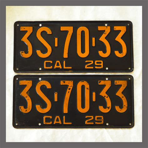 Vanity Plates For Sale by Vintage California License Plates For Sale Arts