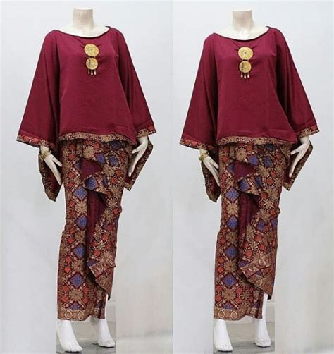 Gambar Model Baju Gamis Batik Remaja Atasan Polos Couple Trendy   Model Baju Muslim Terbaru 2018