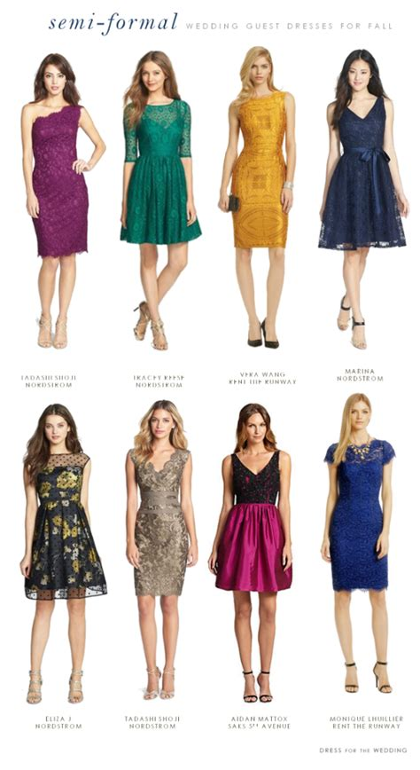 dresses to wear to a formal wedding what to wear to a semi formal fall wedding