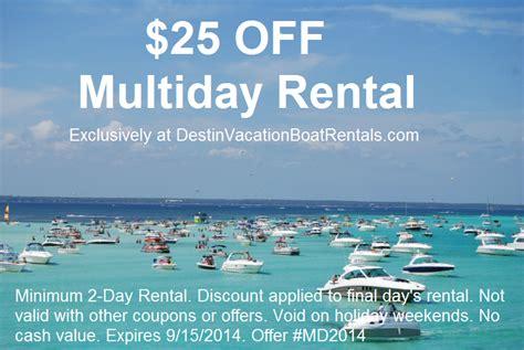 coupons destin vacation boat rentals - Destin Boat Rentals Coupons