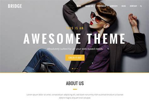 themes wordpress bridge 75 best one page wordpress themes 2016 athemes