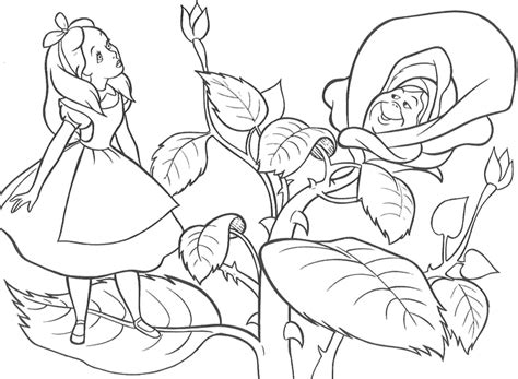 coloring pages of alice in wonderland az coloring pages