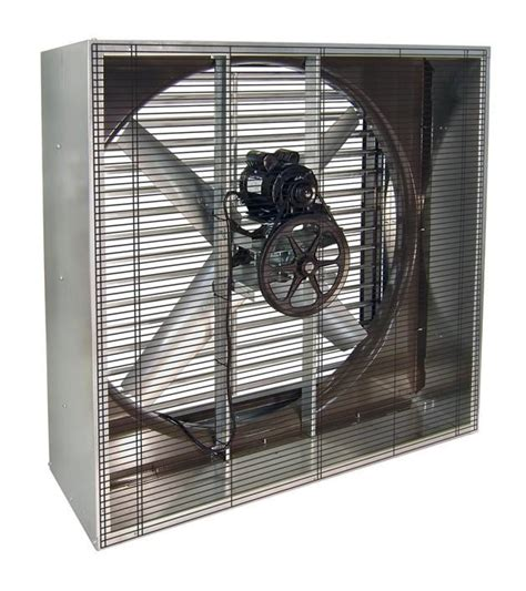 industrial fans direct com vik cabinet exhaust fan w shutters 42 inch 17200 cfm belt
