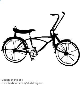 Clip Sepeda Bmx Black lowrider bicycle clipart