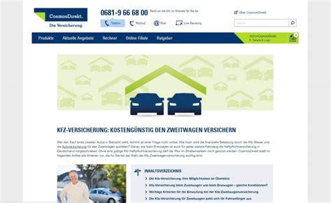 Autoversicherungen Zweitwagen by Da Direkt Kfz Versicherung Zweitwagen Kfz Versicherung