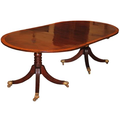 double pedestal dining room tables english regency double pedestal crossbanded dining table