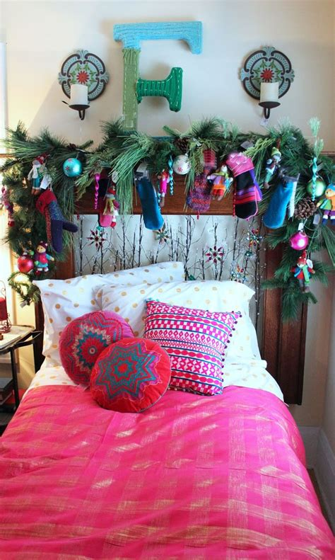 bedroom garland colorful festive bedroom love the colorful pillows and