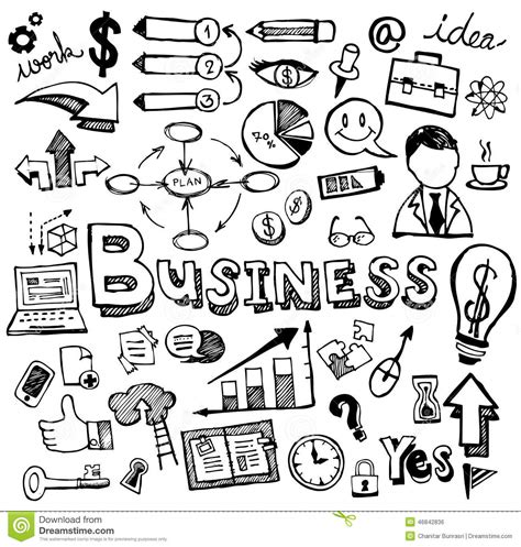 business doodle vector free business doodles vector stock vector image