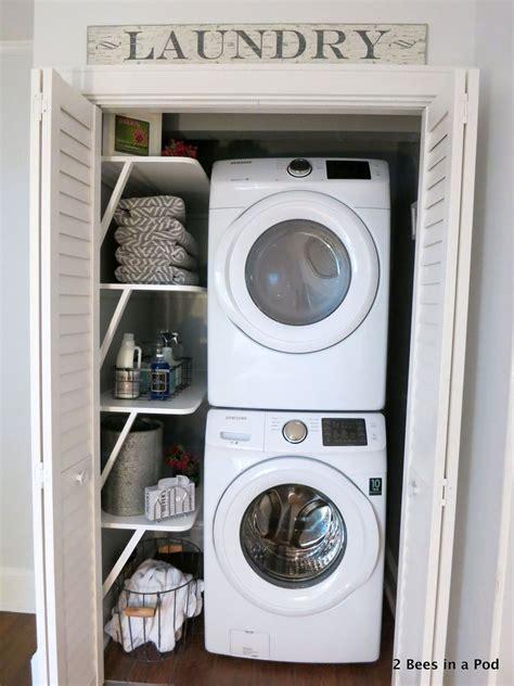 Small Closet Makeover by Small Space Solution Laundry Closet Makeover Hometalk