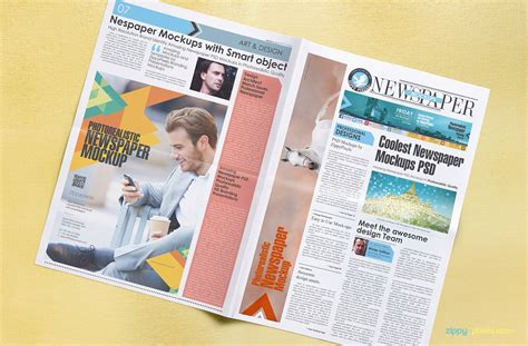 newspaper layout psd 13 photorealistic newspapers advertising mockups