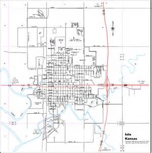 maps of iola kansas and allen county
