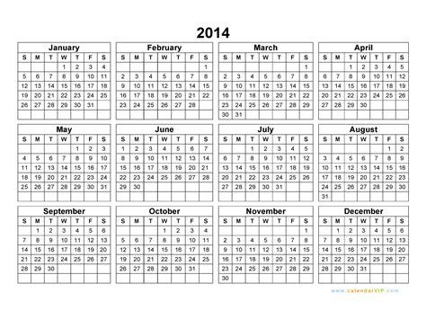Calendar Vip 2014 Calendar Blank Printable Calendar Template In Pdf