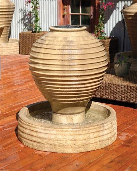 ripple vase outdoor garden water features