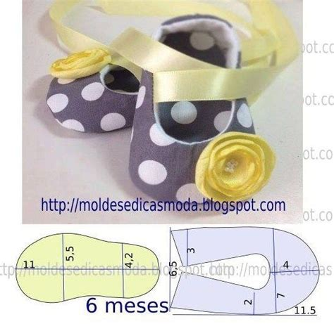 Baby Shoes Sepatu Bayi Prewalker N Bandana 4 molde de sapatinho para beb 201 molde shoes baby shoes tutorial and baby