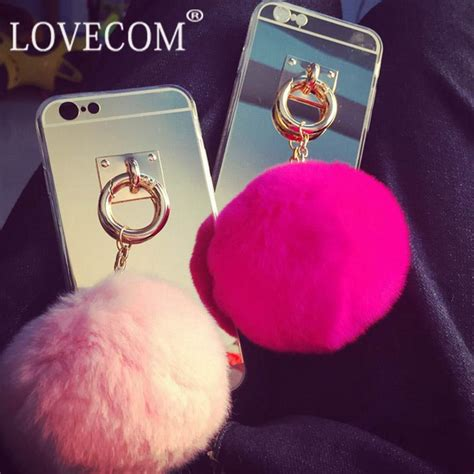 Softcase Tpu Anti With Mirror Samsung J2 Prime mirror rabbit fur pendant soft tpu phone cases bag for samsung j1 j2 j3 j5 j7 a3 a5 a7 a8