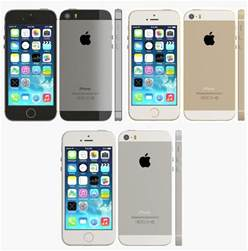 iphone 5s all colors 3d iphone 5s color model