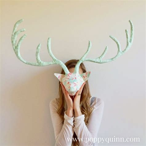 How To Make Paper Mache Antlers - poppyquinn how to make paper mache antlers winged
