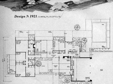 mid century floor plans mid century modern homes floor plans home plan
