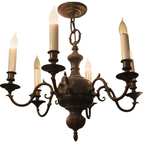 Colonial Style Chandelier Six Arm Colonial Style Bronze Chandelier From Oldegoodthings On Ruby