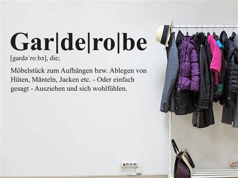 Définition Garde Robe by Wandtattoo Garderobe Definition Klebeheld De