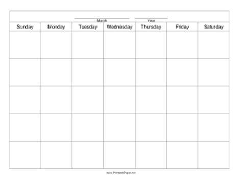 Printable Calendar Paper | printable calendar template