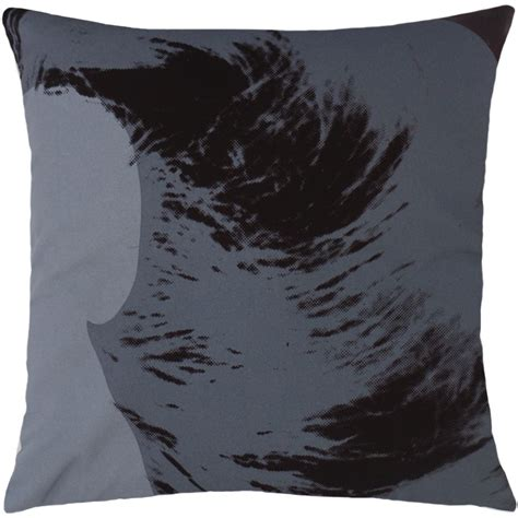 Andy Warhol Pillow by Andy Warhol Pillow In Black Grey Design By Henzel