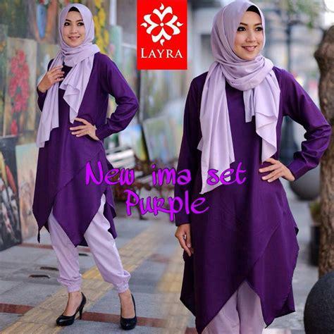 Ima Set Joger new ima purple baju muslim gamis modern